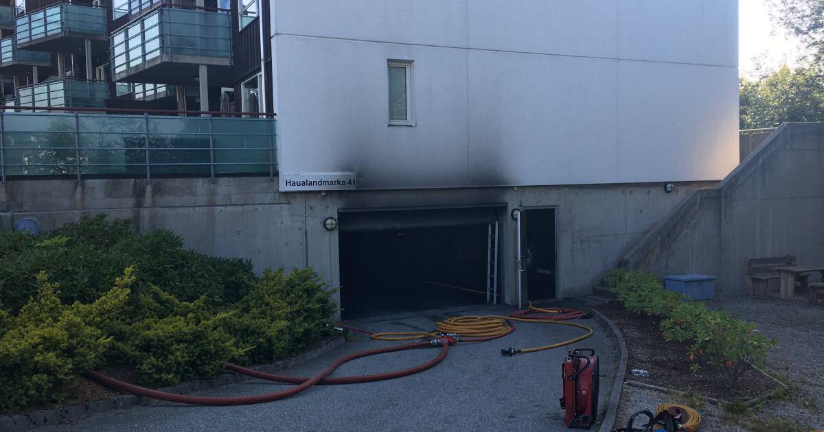 Brann i garasjeanlegg