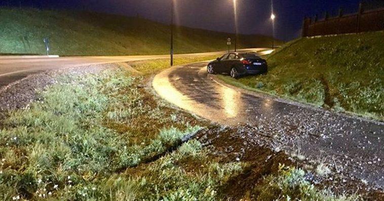 Bil kjørte av vegen på Bryne