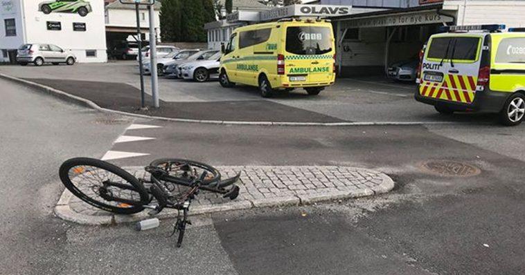 Syklist påkjørt