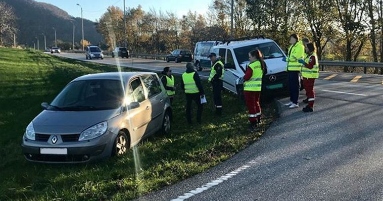 trafikkulykke på Sviland