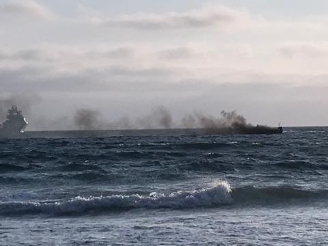 båtbrann på Vigdel